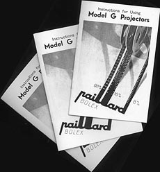 Picture of Bolex Paillard G3 Instruction Booklets