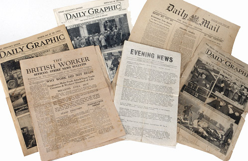 picture of six 1926 General Strike papers
