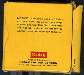 Kodak 8mm Dupe Film with Colour Disclaimer