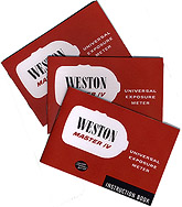 Weston Master IV Instruction Booklets Small Picture