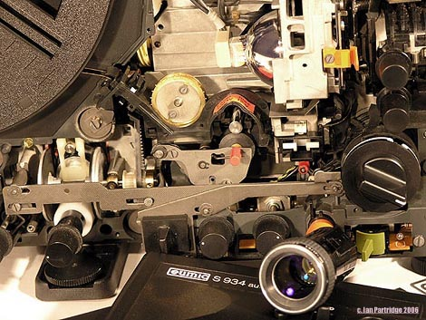 Eumig S934 with lens removed -